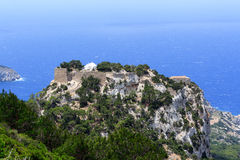 O castelo de Monolithos no Rodes Fotografia de Stock Royalty Free