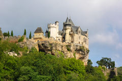 O Castelo de Montfort do Dordogne fotografia de stock royalty free