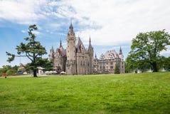 O castelo de Moszna é um palácio histórico Imagens de Stock Royalty Free