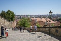 O castelo de Praga fotos de stock royalty free