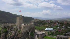 O castelo de Rabati é uma fortaleza em Akhaltsikhe, Geórgia vídeos de arquivo