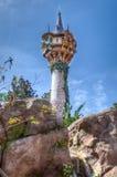 O castelo de Rapunzel - Disney imagens de stock