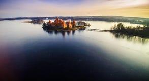 O castelo de Trakai Fotos de Stock Royalty Free
