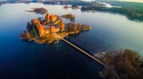 O castelo de Trakai Imagem de Stock Royalty Free