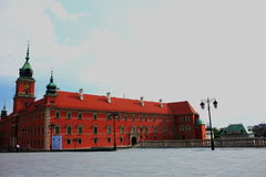 O castelo de Varsóvia Foto de Stock Royalty Free