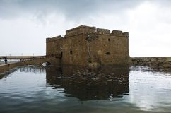 O castelo do dia dos paphos janeiro Fotos de Stock
