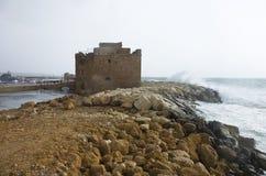 O castelo do dia dos paphos janeiro Imagens de Stock
