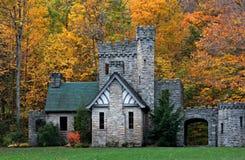 O castelo do latifundiário, Cleveland MetroParks, reserva do desgosto, Ohio fotografia de stock