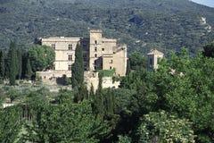 O castelo do renascimento de Lourmarin foto de stock