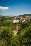 O castelo e a caverna de Pazin Fotografia de Stock
