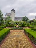 O castelo e os vinhedos do tipo chinês conhecido Changyu do vinho, produtor o maior em China imagem de stock