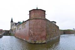 O castelo em Elsinore, Dinamarca de Kronborg Imagem de Stock Royalty Free
