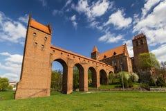 O castelo em Kwidzyn fotografia de stock royalty free