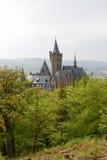 O castelo em Wernigerode Fotos de Stock Royalty Free