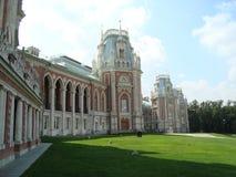 O castelo grande em Tsaritsyno Imagens de Stock Royalty Free