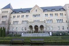 O castelo imperial em Poznan construiu em 1910 no estilo do Neo-românico poland fotos de stock