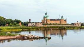 O castelo legendário de Kalmar Fotografia de Stock Royalty Free