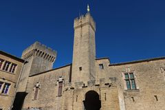 O castelo medieval famoso Emperi, Salon de Provence, França fotos de stock