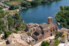 O castelo Miravet em Catalonia, Espanha fotos de stock royalty free