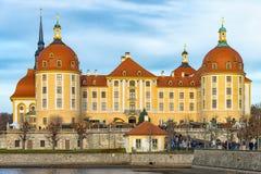 O castelo Moritzburg Foto de Stock Royalty Free