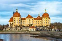 O castelo Moritzburg Imagem de Stock Royalty Free