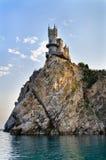 O castelo na rocha Foto de Stock Royalty Free