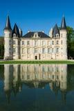 O castelo Pichon Longueville é uma propriedade famosa do vinho do Bordéus w fotografia de stock