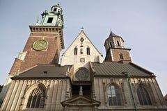 O castelo real de Wawel Fotografia de Stock