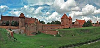 O castelo velho em Malbork - Poland. Foto de Stock Royalty Free