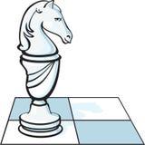O cavaleiro da xadrez Fotos de Stock
