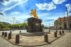 O cavaleiro dourado de Goldener Reiter Foto de Stock Royalty Free