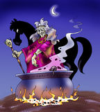 O cavalo da bruxa Fotos de Stock Royalty Free
