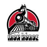 O cavalo de ferro retro ilustração royalty free