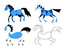 O cavalo estilizado Fotografia de Stock Royalty Free