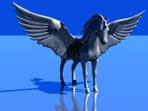 O cavalo gosta de um pássaro Fotos de Stock Royalty Free