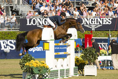 O cavalo que salta - CSIO Barcelona Fotografia de Stock