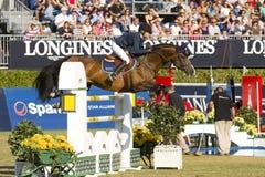 O cavalo que salta - CSIO Barcelona Foto de Stock