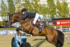 O cavalo que salta - CSIO Barcelona Fotos de Stock Royalty Free