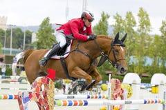 O cavalo que salta - Dieter Kofler Fotos de Stock Royalty Free