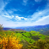 O Cebreiro mountains by the way of Saint James Stock Photography