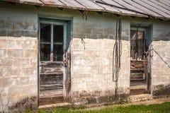 O celeiro velho do tijolo Foto de Stock