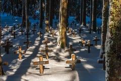 O cemitério de Duchesne imagem de stock