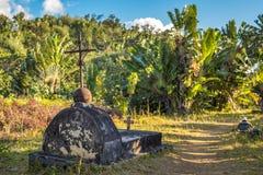 O cemitério de piratas passados em St Mary Island, Madagscar Foto de Stock Royalty Free