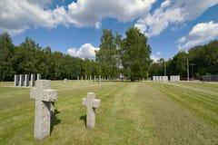 O cemitério o maior de soldados alemães no Polônia, skie de Siemianowice ÅšlÄ… imagem de stock