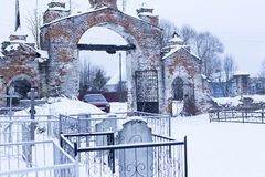 O cemitério velho fotos de stock royalty free