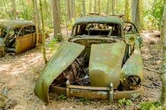 O cemitério velho do carro Imagens de Stock