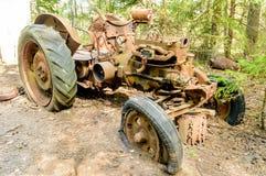 O cemitério velho do carro Fotos de Stock Royalty Free