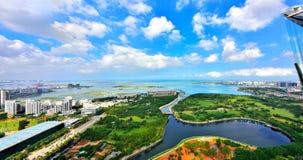 O cenário bonito da costa oeste de Haikou Foto de Stock Royalty Free
