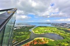 O cenário bonito da costa oeste de Haikou Imagem de Stock Royalty Free