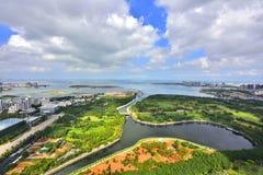 O cenário bonito da costa oeste de Haikou Imagem de Stock
